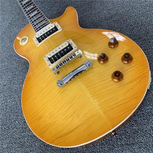 Kostenloser Versand Kundenspezifischer Shop LP Standard Custom E-Gitarre, Handarbeit 6 Saiten Palisander Griffbrett Chibson Guitarra Support Anpassungen