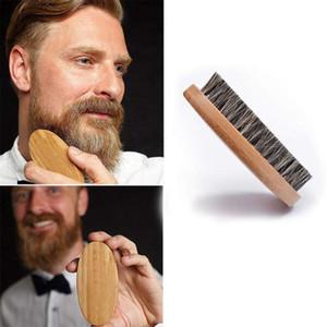 50pcs Natural Boar Bristle Beard Brush For Man Shaver and Facial Brush for Beard Care Natural Boar Bristle Beard Brush For Men 11*5.5*3cm