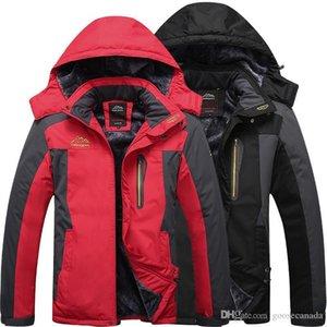 2020 Vestes d'hiver Hommes Outdoor Hommes Épaissir Patchwork Outwear Manteaux Homme Homme Parka à capuche Outdoor chaud Taille Plus 9XL Marque Vêtements
