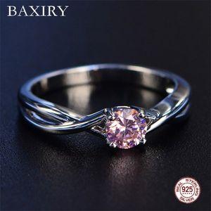 Trendy Gemas Amethyst Silver Ring Blue Sapphire anel de prata 925 Jóias Aquamarine anéis para mulheres anéis de noivado