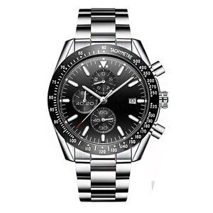 design classique hommes de luxe de haute qualité montres pleine d'acier Luxusuhr homme reloj lien montres-bracelets