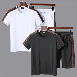 남성 디자이너 Tracksuits 스포츠 남성용 조깅 복 반소매 T 셔츠 및 반바지 봄 여름 캐주얼 Unisex 브랜드 스포츠웨어 세트