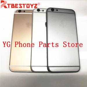 Ursprüngliches neues Gehäuse-Metallrückendeckel für iPhone 6G / 6 Plus 6S 6S Plus hinteres Batterie-Abdeckungsgehäuse + Seitentaste Teile mit Logo