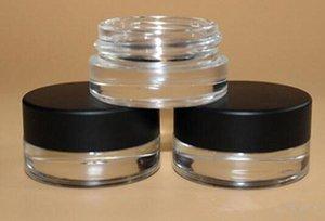 5g contenant de verre pot 5ml vide verre cosmétique pot de stockage avec couvercle noir personnalisé e conteneur de cire de cigarette 2018 meilleure vente pas cher