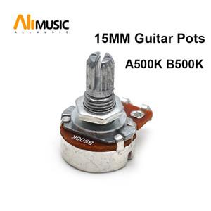 100pcs A500k B500k 15mm ELectric Bass Guitar Volume Tone Pots Audio Tone Switch Potentiometer
