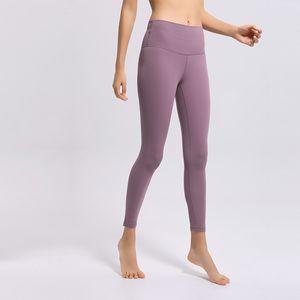 2020 Designer 21 femmes Couleur Leggings solide Tight Vêtements Gym Nylon Run Hip Raise taille haute transparente Yoga Workout Stars du Sport Pantalons