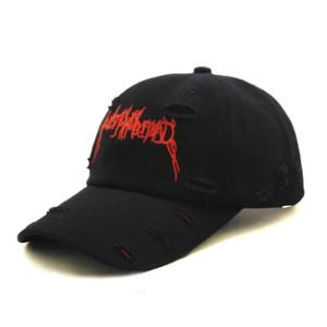 Высокое качество дешевые дизайнерские хлопчатобумажные бейсболки мода отверстие вышивка шапки шляпы casquette унисекс регулируемый пользовательский завод предложил OEM