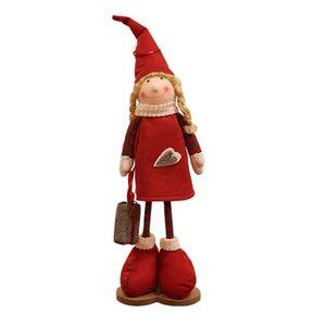 Christmas Elf figura bambola di Natale Babbo Natale Elf maschio e femmina Bambola Bambola Decorazioni di Natale