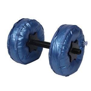 2pcs / Set Portable réglable haltère 5-10kg Pvc-rempli d'eau Haltère Yoga Bodybuilding Water Park Gym Haltères Fitness Workout