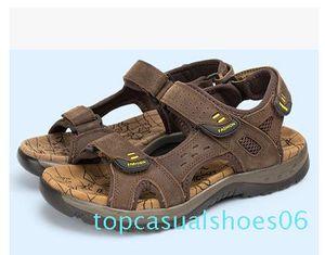 2017 sandali di estate faashion Gli uomini del cuoio genuino scarpe basse Pantofole Beach Walking casual TT6 Mens Shoessmileseller