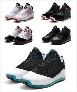 2020 Yeni Tasarım Lebron 7 Kırmızı Halı Beyaz Siyah-Cam Kırmızı Erkekler Açık Basketbol Ayakkabı James 7 Men Tasarımcı Mavi-Soğutma Spor Eğitmenler