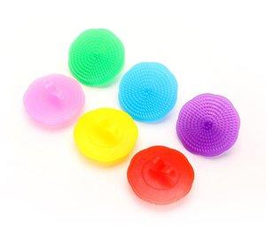 Confortable Massager Scalp Peigne douche corps Brosses Shampooing plastique lavage des cheveux Brosse de massage pour salle de bain coloré SN481