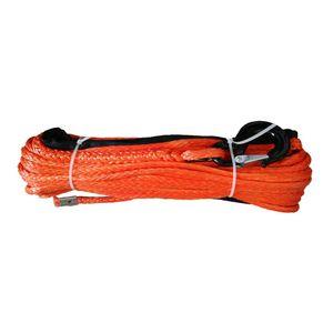 """1/2"""" x 100' de 12 mm x 30 m Synthetic Rope UHMWPE cabrestante con gancho para 4WD UTV"""
