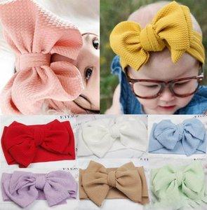 2019 Baby girls big bow Cross Headbands kids Hair bows Elastic headwear Headdress hair band Headwrap Turban Knot Children Hair Accessories