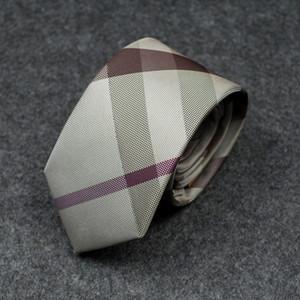 톱 디자이너 남성의 넥타이 고품질의 실크 업무 제휴 작업복 결혼 선물 넥타이 7cm 선물 상자 포장