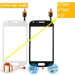 10 adet / grup Samsung Galaxy Trend Artı GT-S7580 Için dokunmatik ekran GT-S7582 S7580 S7582 DUOS Dokunmatik Ekran Digitizer Cam Panel