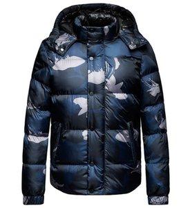 Neue Designer-Herrenkleidung unten Cotton-gepolsterte Kleidung Mantel Reißverschluss mit Kapuze Winter-warme Tarnung wattierte Jacke Mens verdicken Jacken
