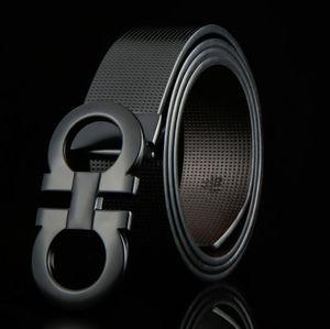 Ferragamo belt 8 mots de ceinture en cuir de haute qualité des hommes boucle, ceinture en cuir 8 bouton boucle de ceinture à boucle lisse. Affaires beltes Livraison gratuite