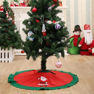 90 CM New Christmas Tree Skirt Пластинчатых елочные украшения Жирного бинт Рождество Юбка Украшение для дома Ресторана