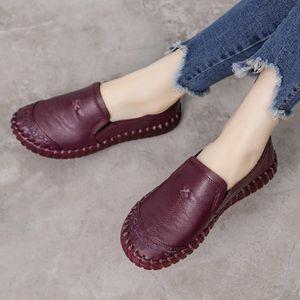 GKTINOO 2019 Mode Femmes Chaussures en cuir véritable Mocassins Femmes Chaussures Casual Chaussures souples confortables Femmes