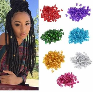 Colorful Hair Rings for Braiding Extensions Hole Adjustabl Cuff Styling Decoration Tools Hair Braiding Dreadlock Accessories