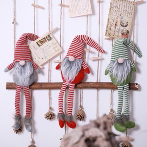 Santa Claus Christmas Ornaments Faceless Doll Swedish Gnome Plush Doll Favor Party Decoration For Home New Year Gift #38