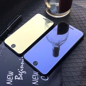 Miroir teinté en verre trempé pour IPhone 11 / 11Pro / 11 ProMax X / X XR XSMax 7P / 8P Anti-Scrath écran avant Film de protection couleur