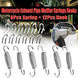 18Pcs Stainless Steel Spring Hook Motorcycle Exhaust Pipe Muffler Springs Hooks Motorcycle Exhaust System Accessories