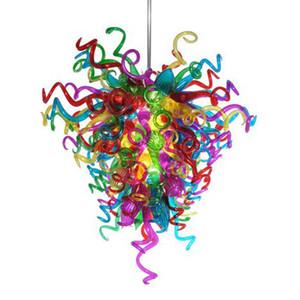 Variopinta moderna del lampadario di cristallo soffiato luci lustro a mano Glass Chandelier Romantico Camera da letto moderna Soggiorno lampadario luce