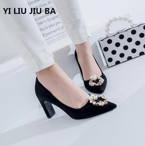 hot sale spring Women Shoes Sexy Pointed Toe Pumps women Shoes Zapatos Mujer High Heel Wedding shoes women Plus Size 35-44 **092 Y200702