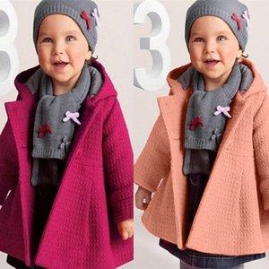 아기 유아 소녀 가을 겨울 두건을 입은 오버 코트 망토 자켓 두꺼운 따뜻한 옷 Dropshipping 코튼 후드 자켓 아기 옷