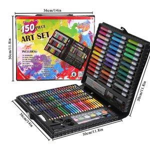 150/176 pcs pintura Lápis Drawing Set Crayon coloridas Watercolors Pens For Kids Crianças Student artista Art Set pincéis