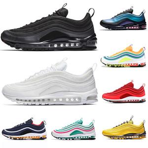 Nike Air Max 97 97s airmax 97 VM Zapatillas de running para hombre Corte morado Triple Blanco Negro Tenga un día para mujer Zapatilla deportiva deportiva fuera de 36-45
