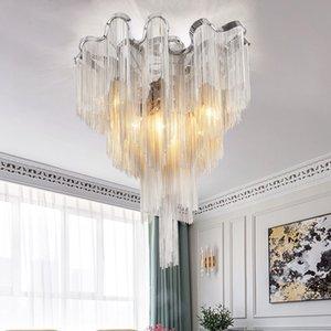 Роскошные алюминиевые потоковые цепные Chastelier Tassel висит освещение гостиной столовая спальня потолочный светильник новый CA002