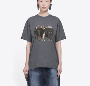Mejor Modelo Foto de la banda impresa camiseta clásica de gama alta camiseta ocasional sólido del cortocircuito del verano Calle mangas Hombres Mujeres T transpirable HFYMTX805