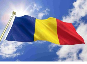 Пользовательские 3x5 футов румынского флага 90x150cm Румыния Флаг Дешевых Страновая Флаги знамена Подвесных Drop Доставка