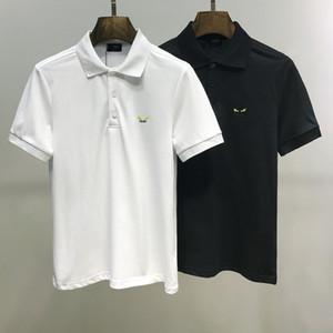 marca de designer de luxo novo Polo Casual camisa medusa mens polo homens alta rua High street bordados cobra abelha camisas pólo 3XL