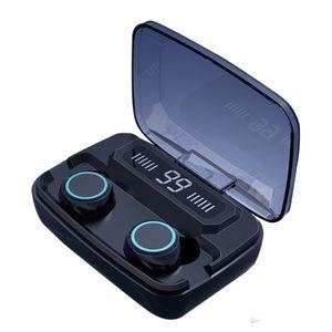 M11 TWS سماعات لاسلكية بلوتوث 5.0 في الأذن للحد من الضوضاء وسماعة هيفي IPX7 سماعة للماء للرياضة