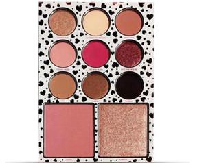 Novos alta qualidade 9 cores A coleção de aniversário Eu quero tudo Eyeshadow +2 Cor Blush Shimmer Matte Fast Shipping