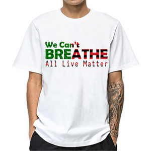 I Cant Breathe Mens Tshirt Round Neck Short Sleeve Trend Summer Fashion Large Size Male Wear Loose Bottom Letter Print Tees Tops Clothing