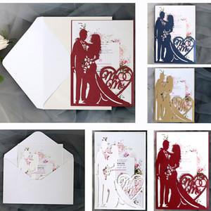 شخصية الليزر الجوف خارج بطاقات دعوات الزفاف بطاقات المعايدة لحضور حفل زفاف خطوبة عيد الحب تفضل لوازم الزفاف