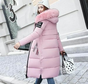 2019 Europe and the United States New Fashion foreign women the long section of thick cotton coat super large fur collar b warm down jacket