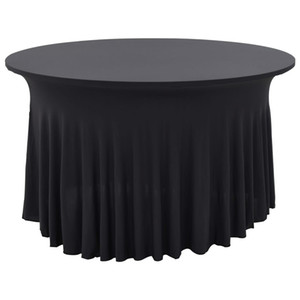 Tablecloth Table Cloth With Petticoat 2 Pcs 150X74Cm Anthracite Wall Stickers