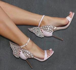 Rose Argent Champagne Chaussures De Mariage De Mariée Chaussures De Mariage De Mariée Boucle De Courroie Talons Hauts Sandanls À Bout Ouvert Femmes Pompes
