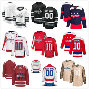 Custom Washington Capitals 28 Jakub Jerabek 13 Jakub Vrana 68 Jaromir Jagr 74 John Carlson 20 Lars Eller Men Women Kids Youth Hockey Jerseys