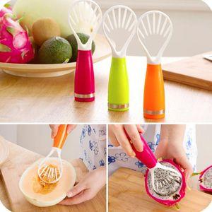 Fruits en plastique Outils Graines Effacer fruits et Dig Fruit chair Kiwi Cantaloup Pitaya Mango Plastic Supprimer le périphérique Graines