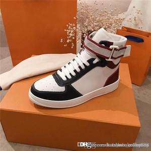 La dernière botte de baskets à la cheville en cuir, Unisexe Ace High Top Sneakers formateurs de vitesse avec boîte Vente chaude en