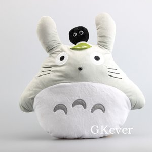 46 cm Anime My Neighbor Totoro Plush Toys Doll Cartoon Totoro With Black Ghost Pillow Cushion Baby Kids Christmas Birthday Gift