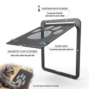Chien Empreinte Motif Pet Cat porte fenêtre Porte écran Doggie Flap Pet Supplies-30