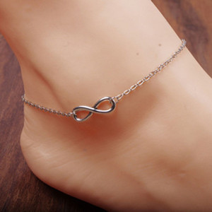 Fashion Gold Infinity Anklet Foot Chain for Women Anklets Bracelet jewelry chaine de cheville drop ship